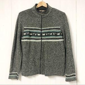 Vintage Woolwich Fair Isle Sweater w Lamb Detail